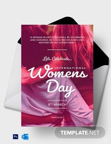 International Women's Day Greeting Card Template