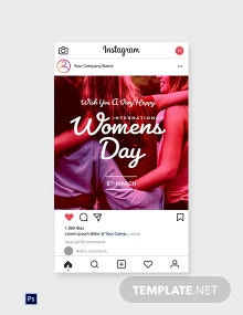 International Women's Day Instagram Post