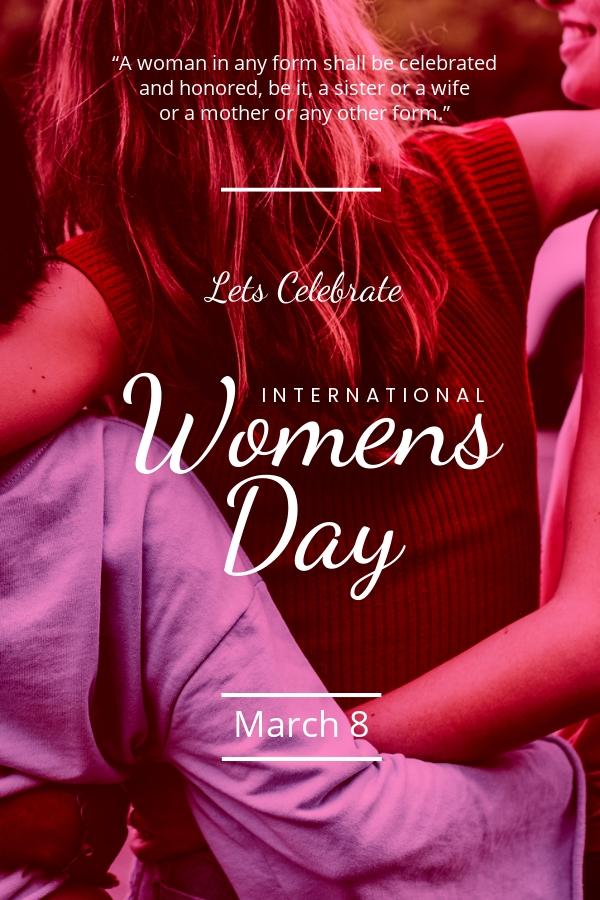 International Women's Day Pinterest Pin Template