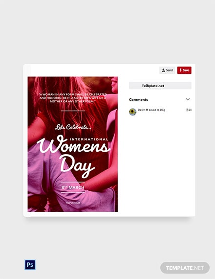 International Women's Day Pinterest Pin