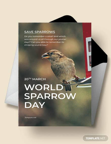 World Sparrow Day Greeting Card