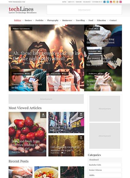 Free Tech Blog PSD Website Template
