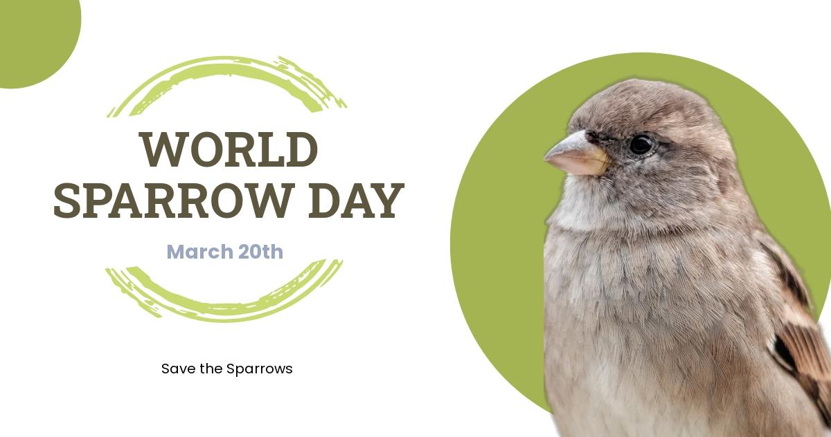World Sparrow Day Linkedin Post