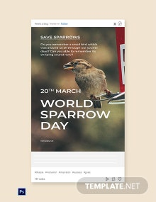 World Sparrow Day Tumblr Post