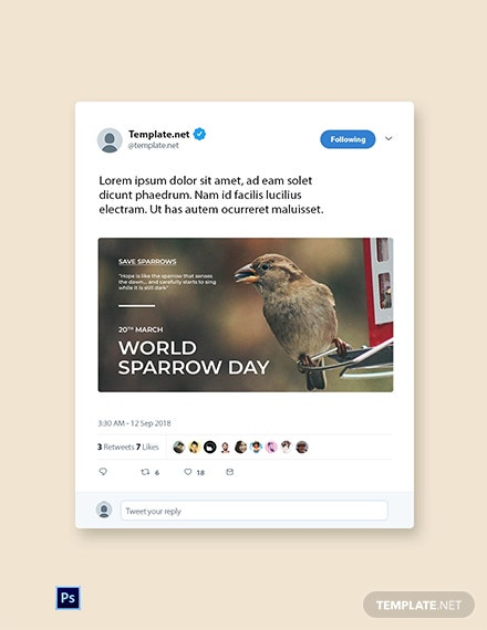 World Sparrow Day Twitter Post