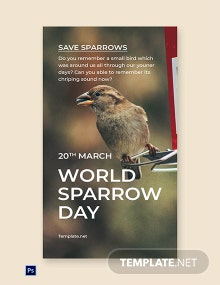 World Sparrow Day Whatsapp Image