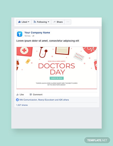Doctors' Day Facebook Post