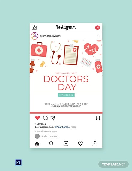 Doctors' Day Instagram Post