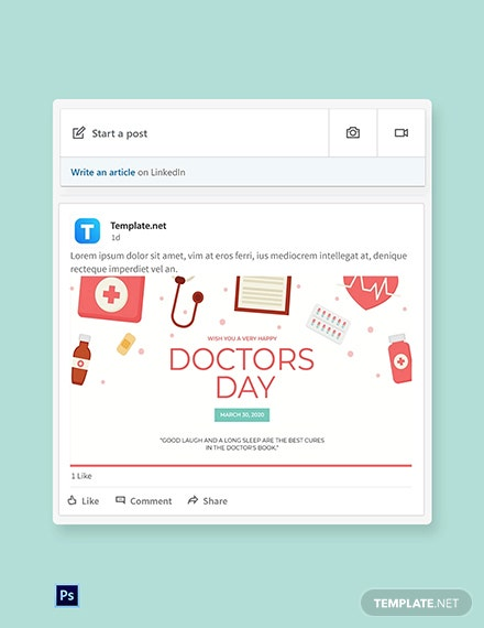 Doctors Day Linkedin Post