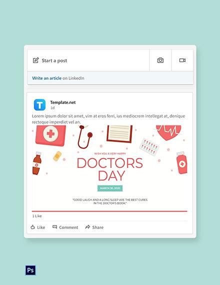 Doctors' Day Linkedin Post