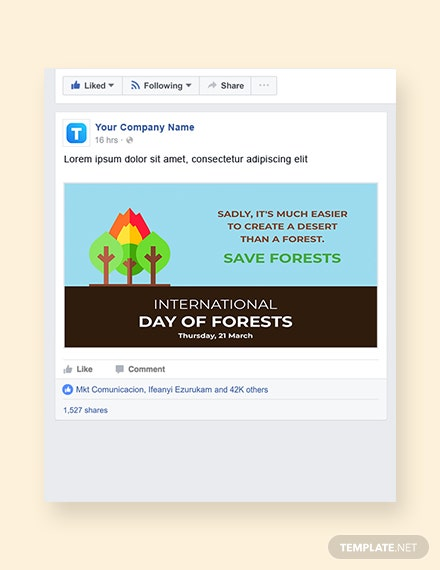 International Day For Forests Facebook Post