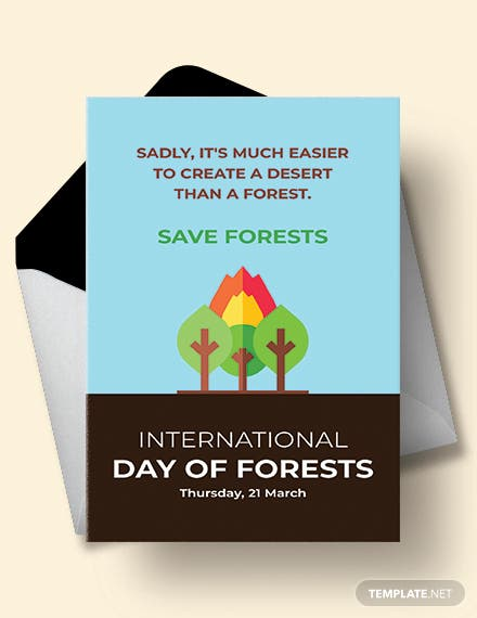 International Day For Forests Greeting Card