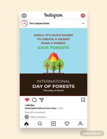 International Day For Forests Instagram Post
