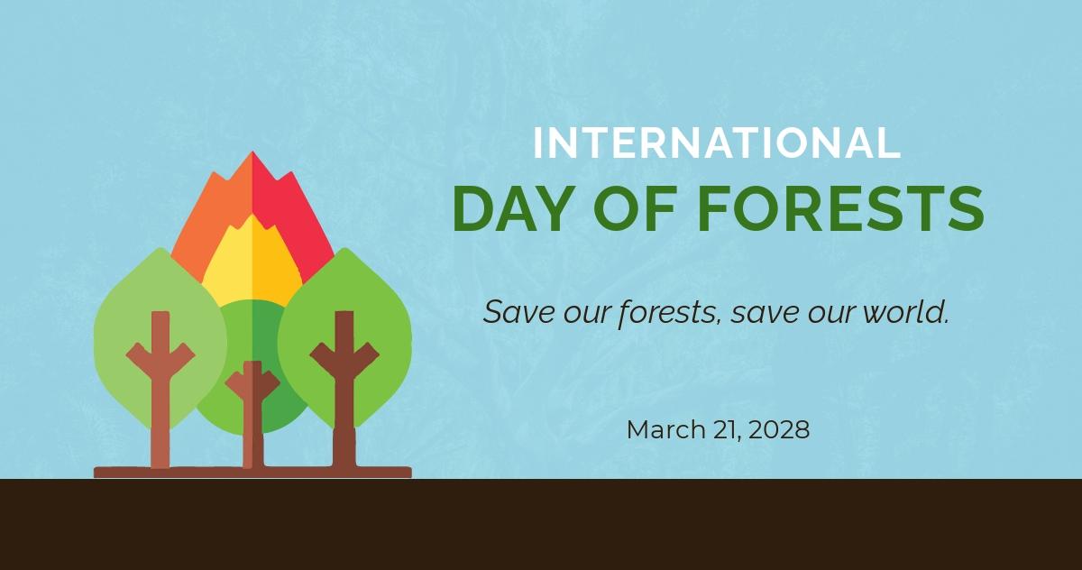International Day For Forests Linkedin Post