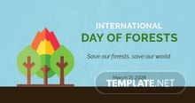 International Day For Forests Linkedin Post Template