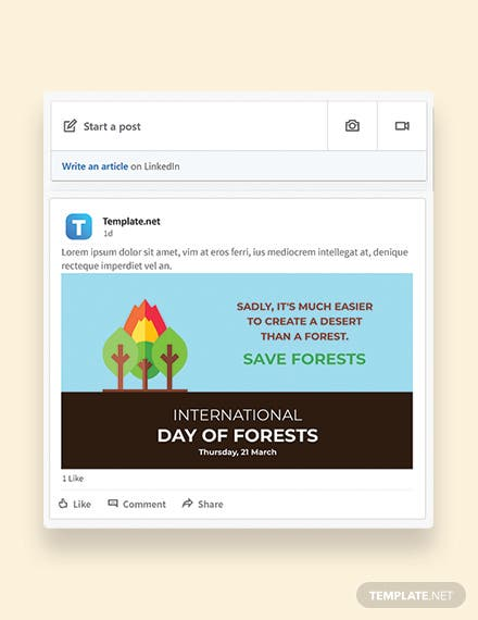 International Day For Forests Linkedin Post