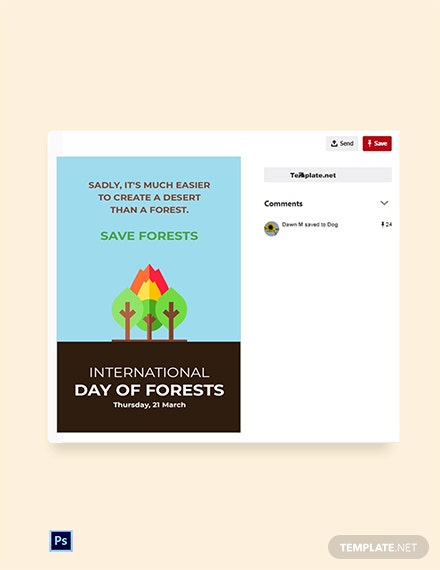 International Day For Forest Pinterest Pin Template