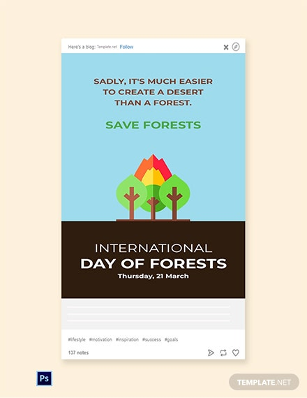 International Day For Forests Tumblr Post
