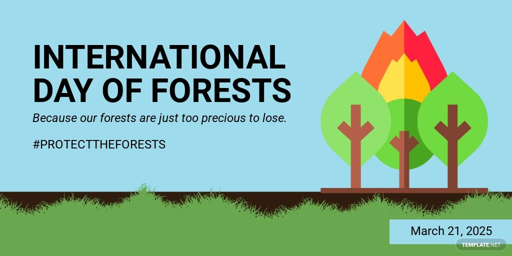 International Day For Forests Twitter Post Template
