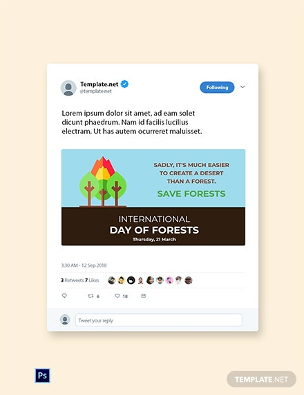 International Day For Forests Twitter Post