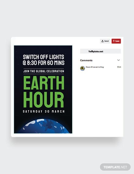 Earth Hour Pinterest Post