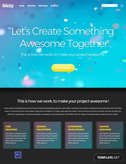 Free Web Development Website Template