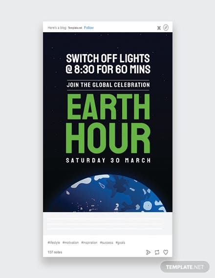 Earth Hour Tumblr Post