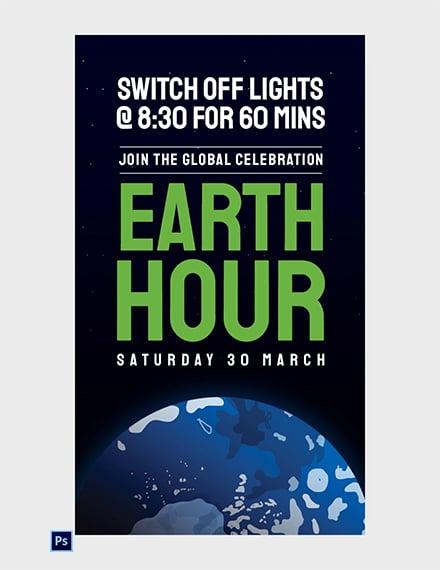 Earth Hour Whatsapp Image
