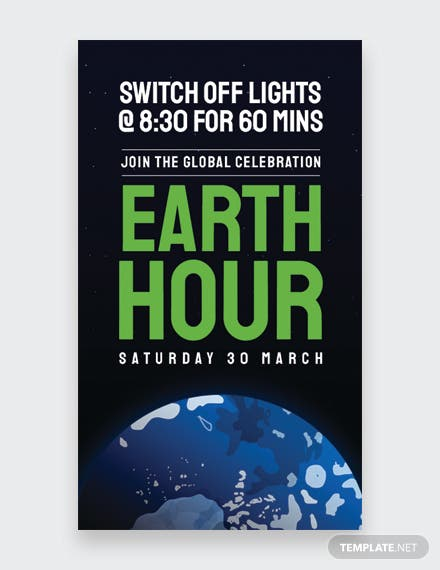 Earth Hour Whatsapp Image