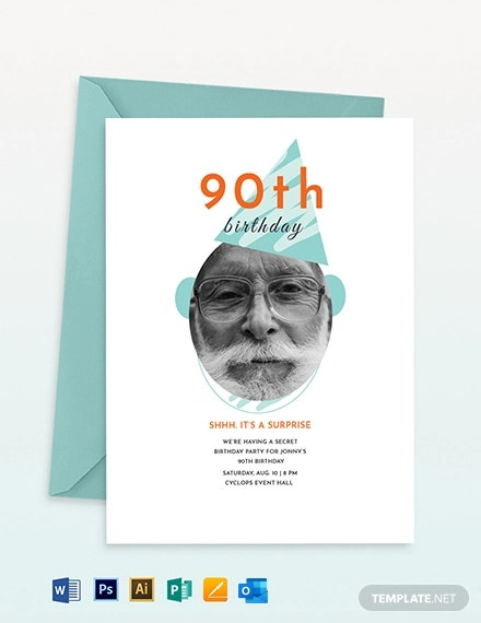 th Birthday Invitation Template