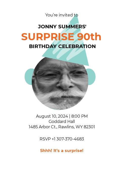 90th Birthday Invitation Template.jpe