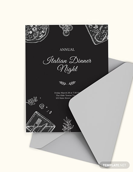 annual dinner invitation template 1