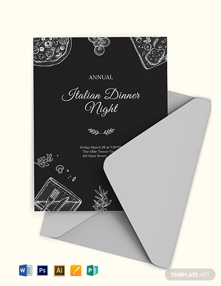 Annual Dinner Invitation Template