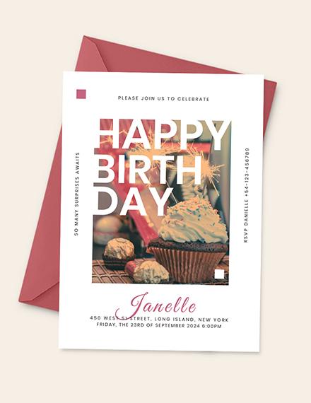 Birthday Event Invitation Download