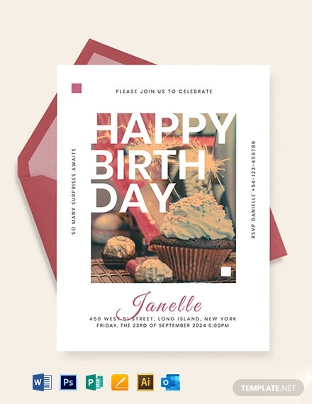 Birthday Event Invitation Template