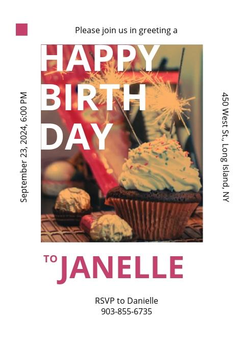 Birthday Event Invitation Template