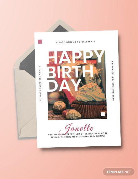 birthday event invitation