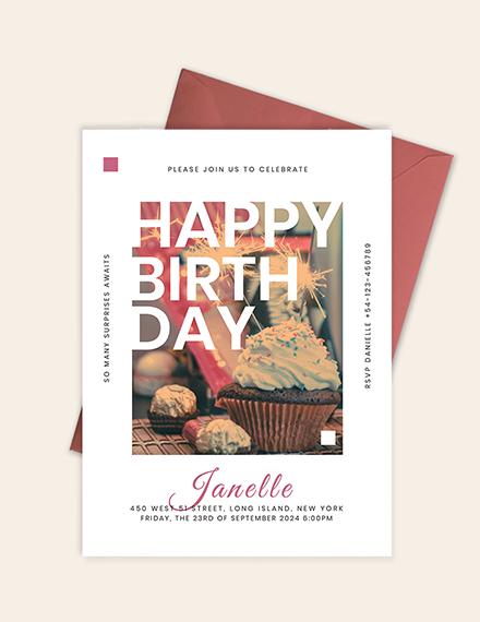 Sample Birthday Event Invitation