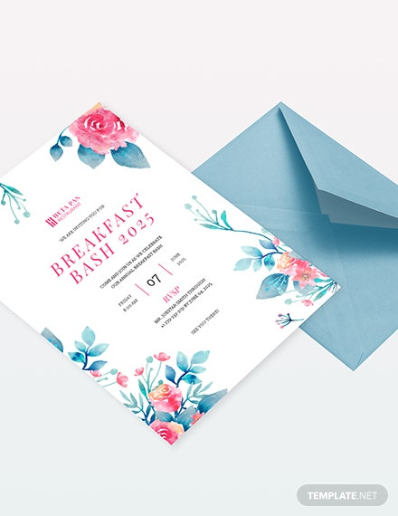 Breakfast Party Invitation Download