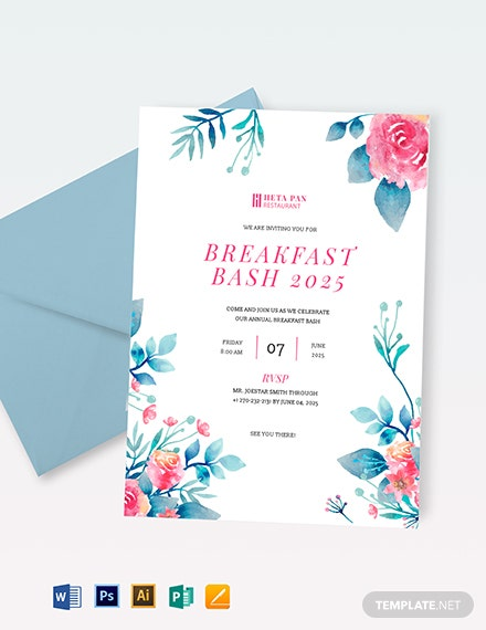 Breakfast Party Invitation Template Download 471 Invitations In