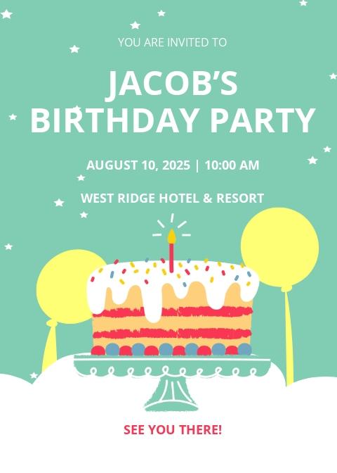 Boy Birthday Invitation Template
