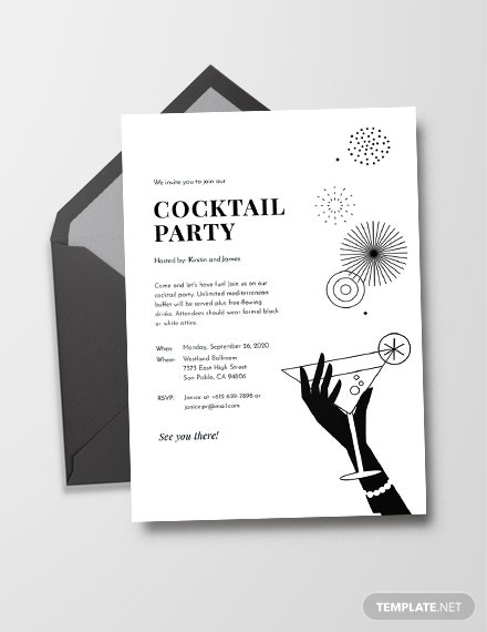12 Black And White Party Invitations Psd Ai Vector Eps