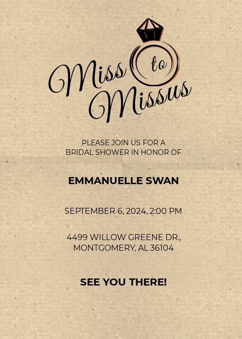 Bridal Party Invitation Template