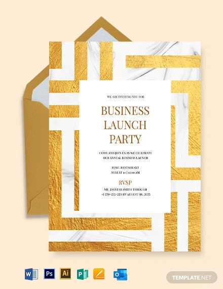Business Launch Party Invitation Template