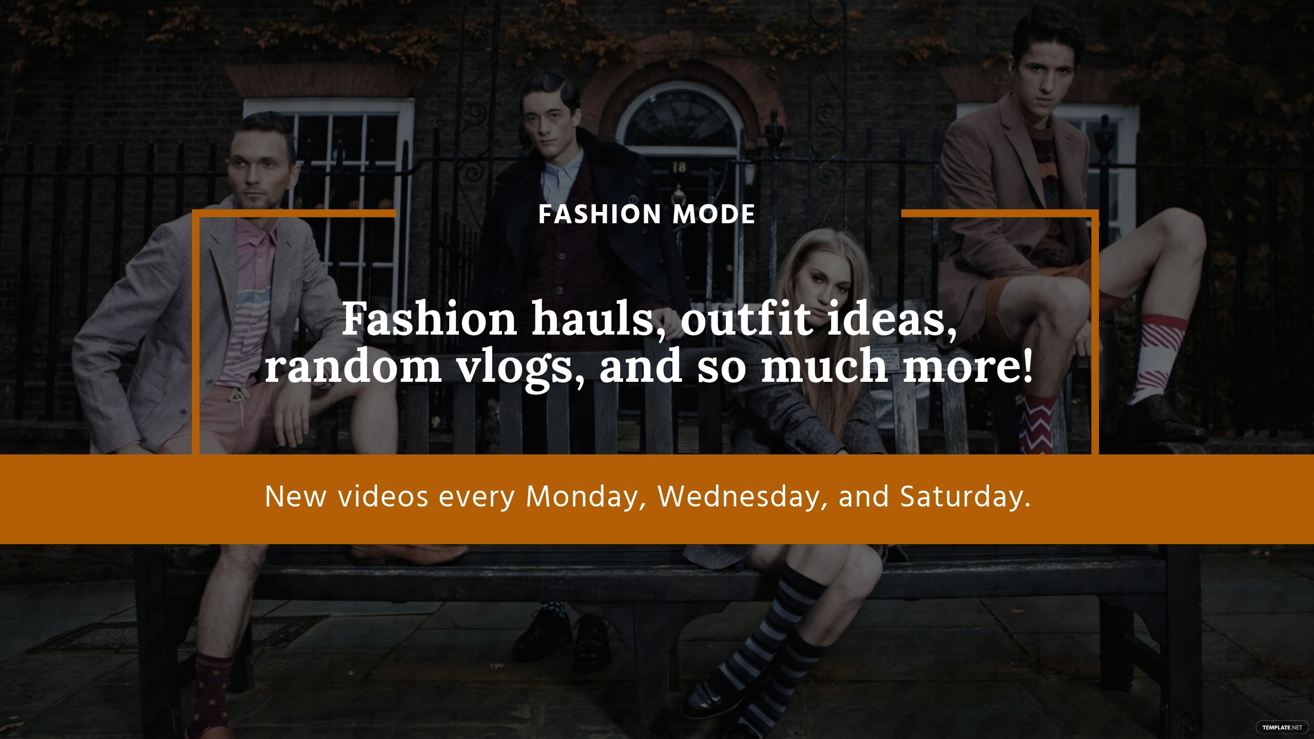 Fashion YouTube Channel Art Template