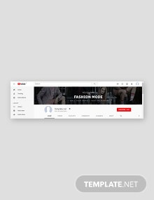 Free Fashion YouTube Channel Art Template