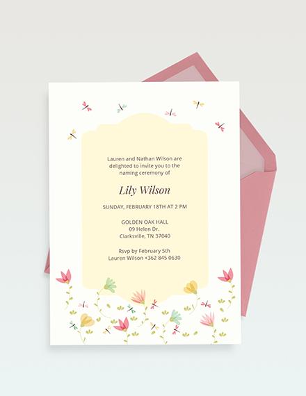 Ceremony Invitation Download