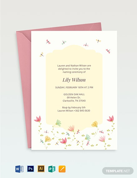 ceremony invitation template 1