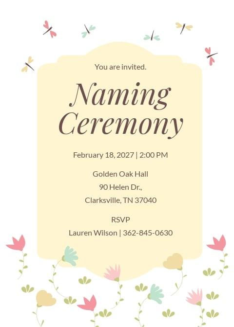 Ceremony Invitation Template