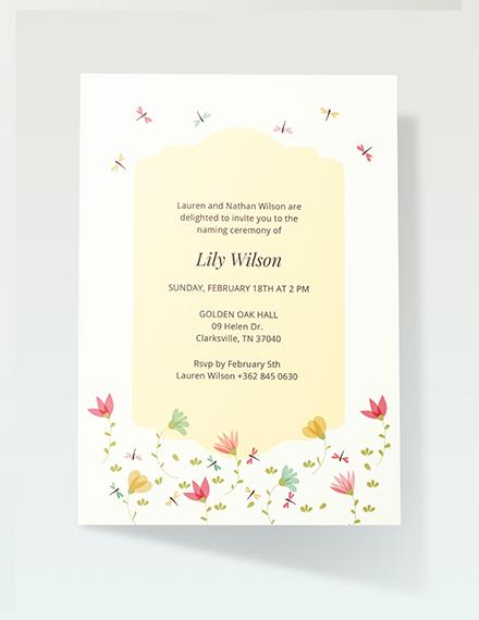Sample Ceremony Invitation